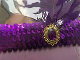 Повязка-диадема с пером Чикаго / Чарльстон фиолетовая, фото 2