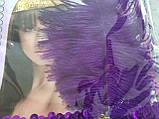 Повязка-диадема с пером Чикаго / Чарльстон фиолетовая, фото 3