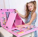 Набор для творчества Набор для рисования 176 предметов с мольбертом Розовый, фото 2