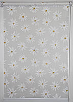 Готовые рулонные шторы 325*1500 Ткань Ромашки Белый