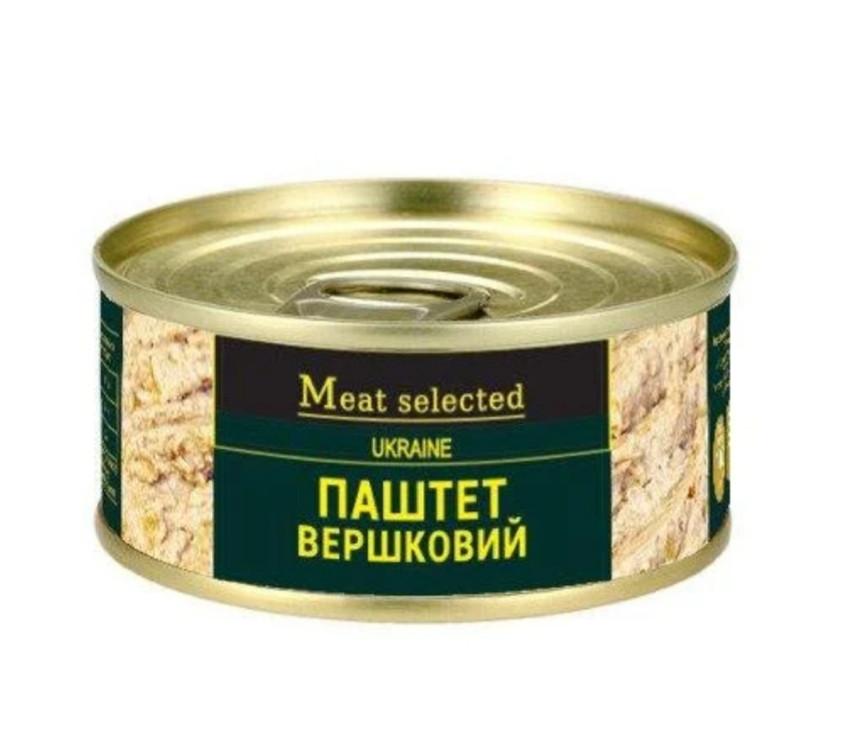 """Паштет сливочный 100г """"Meat selected"""""""
