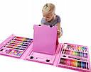 Набор для творчества Набор для рисования 176 предметов с мольбертом Розовый, фото 4