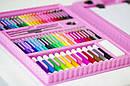 Набор для творчества Набор для рисования 176 предметов с мольбертом Розовый, фото 5