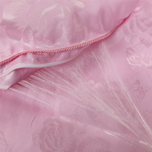 100% шелк одеяло для лета и зимы Размер  размер двойной , королевский , царский . Постельное белье ручной работы белый/ розовый цвет