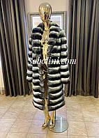 Шуба з шиншили в довжиною 120см, фото 1