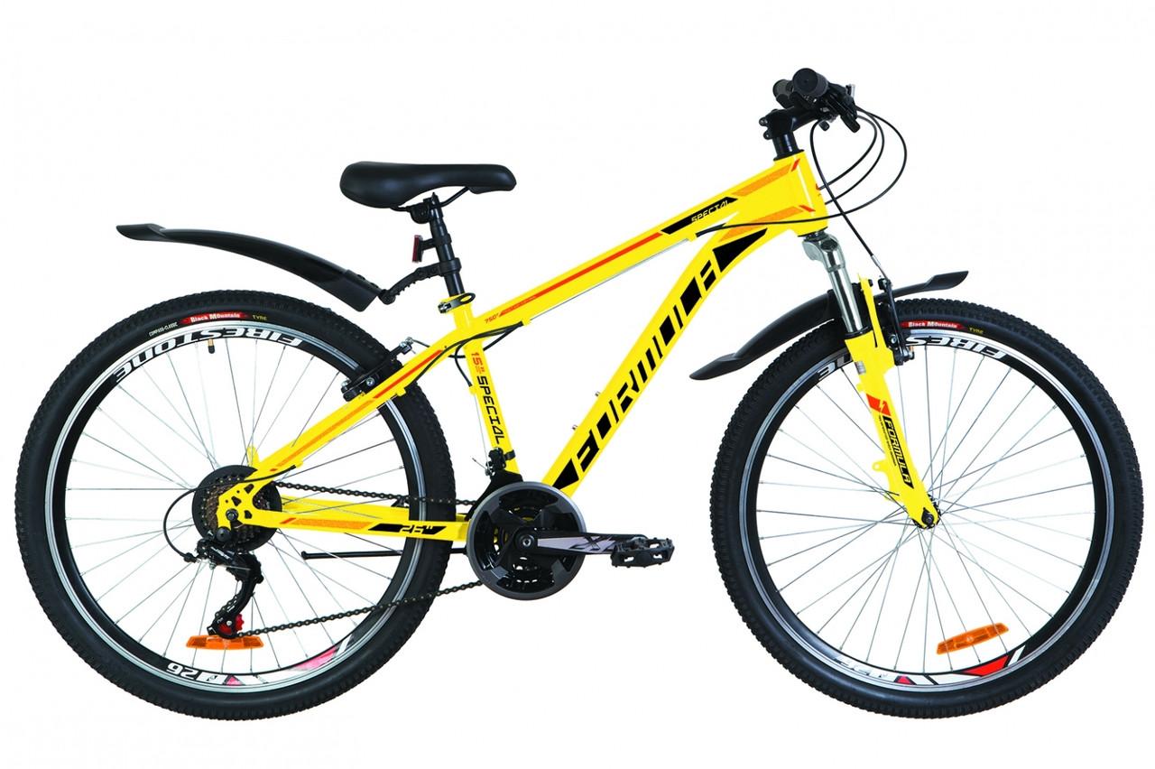 """Велосипед подростковый горный 26"""" Formula SPECIAL 2019 (рама 15"""", желтый)"""
