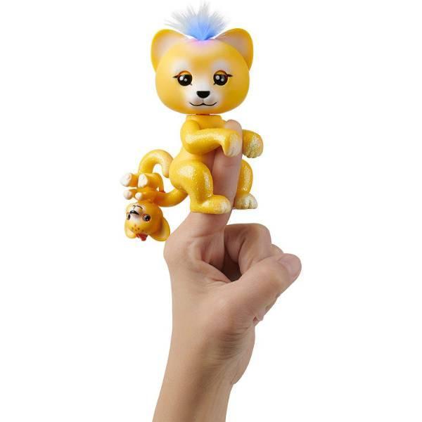 WowWee Fingerlings Интерактивный ручной лев Сам светится 3526 Lion Sam Light Up