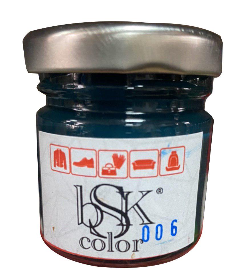 Краска крем для гладкой кожи 50 мм темно-зелёная   bsk-color