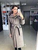Женское пальто с капюшоном демисезонное, фото 1