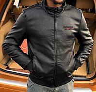 Демисезонная мужская куртка-бомбер из эко-кожи высокого качества Balenciaga, Реплика см. описание!, фото 1