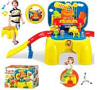Автотрек для малышей в коробке-стульчике 008-806