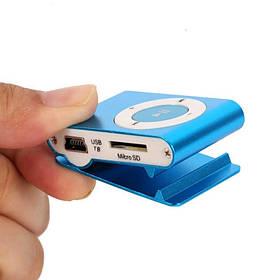 Mp3 плеер в  металическом корпусе  футляр пластик голубой