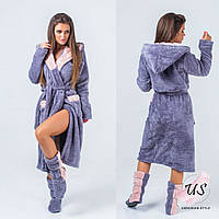 Женский теплый домашний комплект (халат и сапожки). цвета!, фото 1