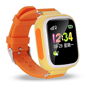 Умные детские часы Smart Baby watch Q90S +GPS трекер для детей Желтые