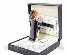 Новинка. Електроімпульсна запальничка ARC USB в подарунковій упаковці кругова дуга