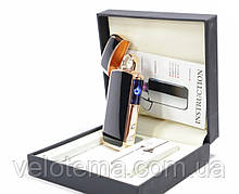 Новинка. Электроимпульсная зажигалка ARC USB в подарочной упаковке круговая дуга