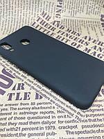 Samsung Galaxy A30 2019 (A305F) цветной матовый силиконовый ультратонкий чехол/ бампер/ накладка черный