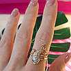 Золотое кольцо Рыбка - Женское кольцо золото и фианиты, фото 4