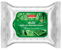 Очищающие салфетки для снятия макияжа с алоэ PUREDERM Make-up Cleansing Tissues Aloe