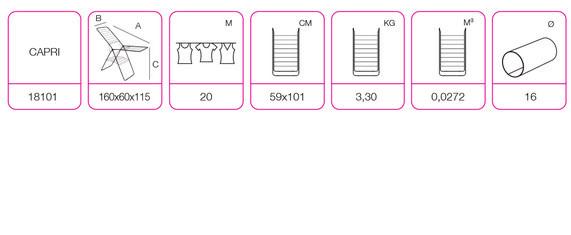 """Технические характеристики напольной сушки для одежды EGE """"Capri"""" (Капри)"""