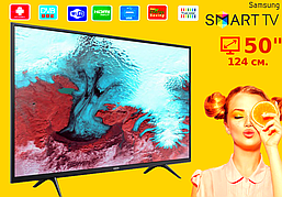 Телевизор Samsung 50 Smart TV 4K, Wi-Fi, Самсунг, Смарт ТВ