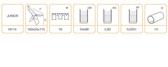 Технические характеристики напольной сушки для одежды EGE