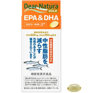Asahi Dear-Natura Gold EPA (600 мг) + DHA (260 мг) 360 капс на 60 днів