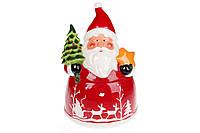 """Красивая новогодняя банка для сладостей и печенья  """"Санта Клаус """" 3л"""
