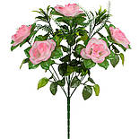 Букет розы с  зеленью, 47см (по 10 шт. в уп.), фото 2