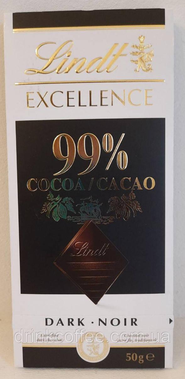"""Чорний шоколад Lindt Excellence """"99% какао 100г"""