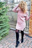 Теплое платье-туника с высоким воротом-горловиной.Разные цвета, фото 1