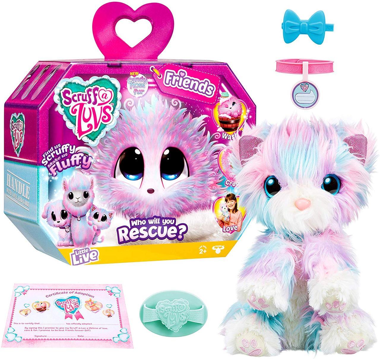 Little Live Питомец сюрприз Няшка Потеряшка меланж Little Live Scruff A Luvs Rescue Pet Candy Floss