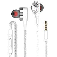 Вакуумные стерео наушники гарнитура проводные с регулировкой громкости и микрофоном 4W. Навушники для телефону