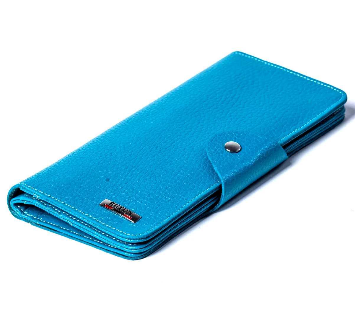 Женский кошелек кожаный бирюзовый Butun 645-004-050