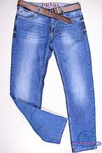 Джинсы мужские стрейчевые с поясом PRADA 11691 Размер:30