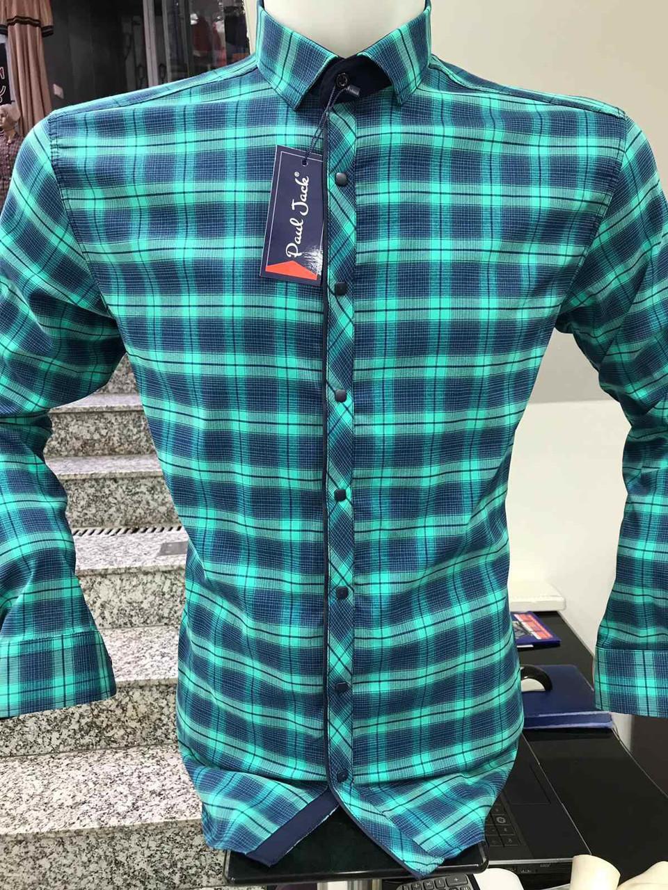 Рубашка батальная Paul Jack в клетку