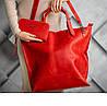 Сумка шоппер красного цвета UDLER