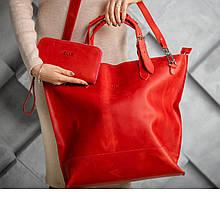 Сумка шоппер червоного кольору UDLER