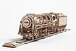Локомотив с Тендером | UGEARS | Механический 3D конструктор из дерева, фото 6