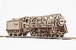Локомотив с Тендером | UGEARS | Механический 3D конструктор из дерева, фото 4