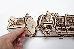 Локомотив с Тендером | UGEARS | Механический 3D конструктор из дерева, фото 3