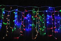 Разноцветная гирлянда бахрома 3х0,70 метра, 120 LED с переходником! Мультицвет.