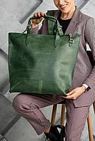 Сумка шоппер зеленого цвета UDLER