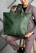 Сумка шоппер зеленого кольору UDLER