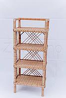 Стеллаж плетеный на 5 полок | плетеный стеллаж из лозы | стеллаж из лозы