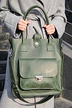 Сумка шоппер MEGAN зеленого кольору від UDLER