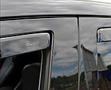 Дефлектори вікон вставні Citroen C-Crosser / Peugeot 4007 5D 2007->  4шт, фото 2