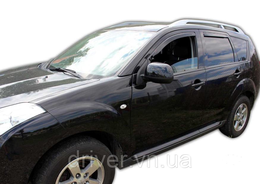 Дефлектори вікон вставні Citroen C-Crosser / Peugeot 4007 5D 2007->  4шт