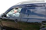 Дефлектори вікон вставні Citroen C-Crosser / Peugeot 4007 5D 2007->  4шт, фото 3