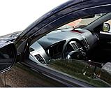 Дефлектори вікон вставні Citroen C-Crosser / Peugeot 4007 5D 2007->  4шт, фото 6